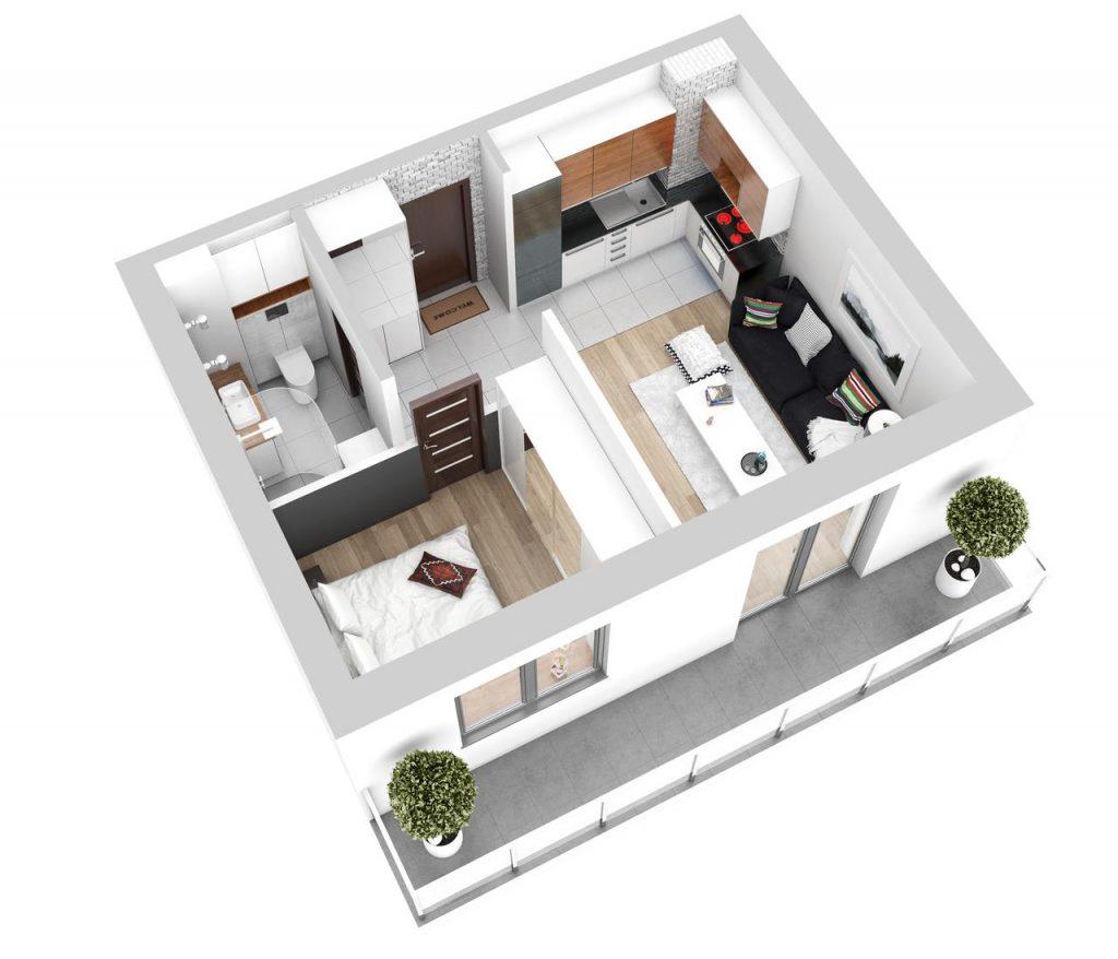 Lokal mieszkalny - 2 pokoje z aneksem kuchennym