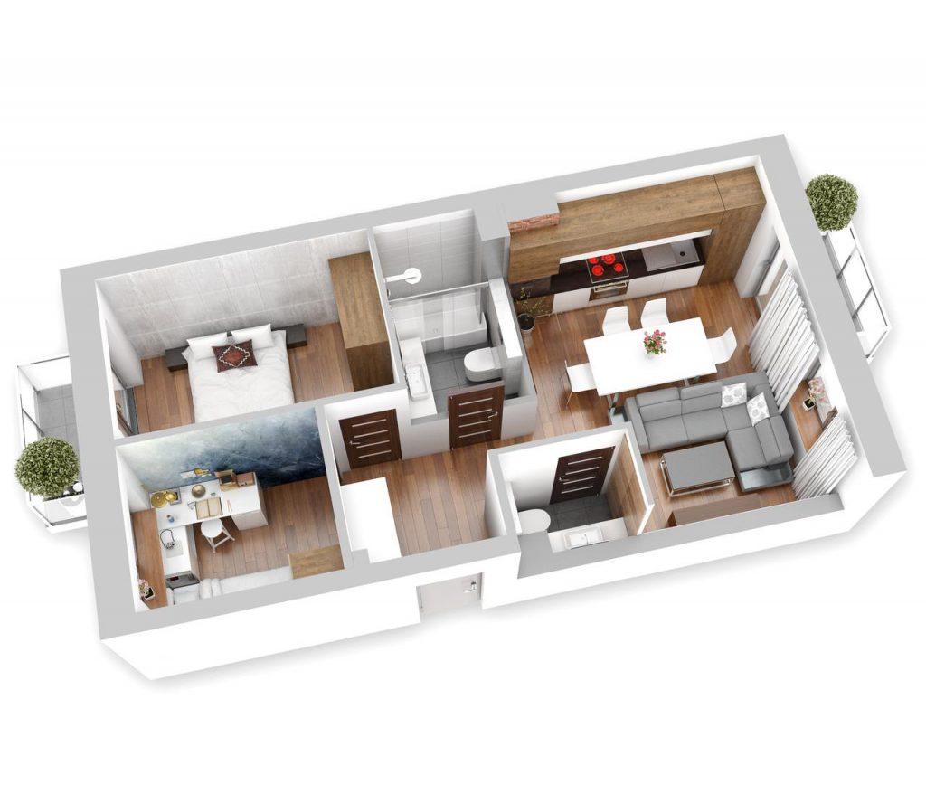 Lokal mieszkalny - 3 pokoje z aneksem kuchennym